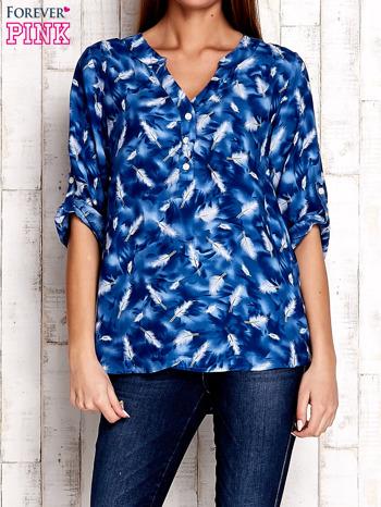 Niebieska koszula w piórka                              zdj.                              1