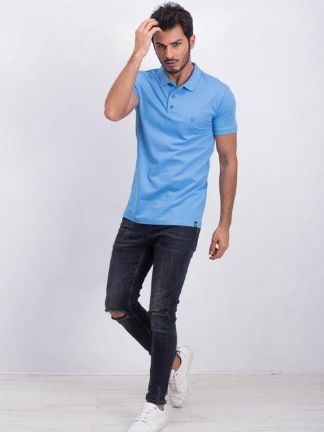 Niebieska koszulka polo Coastal                              zdj.                              4