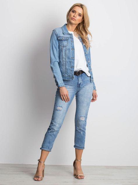 Niebieska kurtka jeansowa Mileage                              zdj.                              4