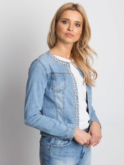 Niebieska kurtka jeansowa Off-duty                              zdj.                              3
