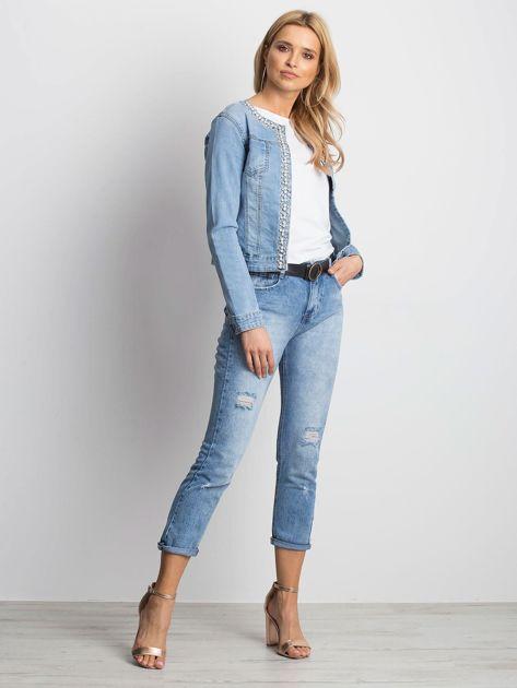 Niebieska kurtka jeansowa Off-duty                              zdj.                              4