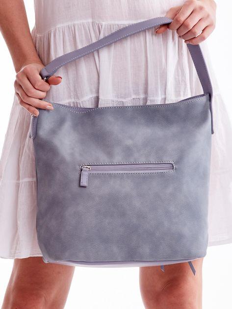 Niebieska miejska torba z kieszeniami                              zdj.                              5