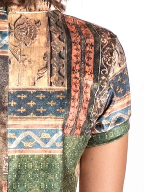 Niebieska mini sukienka w patchworkowy wzór                                  zdj.                                  6