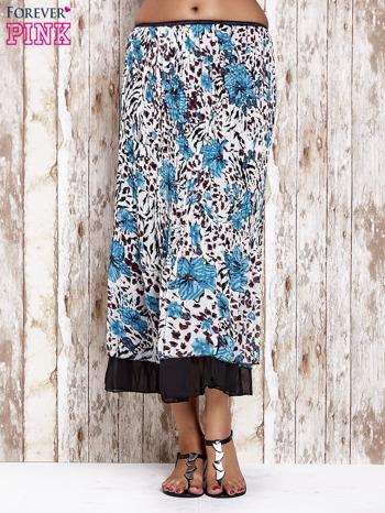 Niebieska plisowana spódnica midi z brokatem                                  zdj.                                  1
