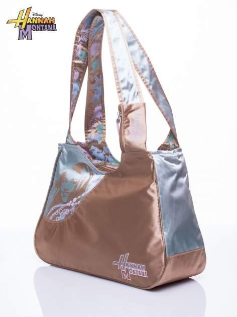 Niebieska satynowa torba szkolna DISNEY Hannah Montana                                  zdj.                                  2