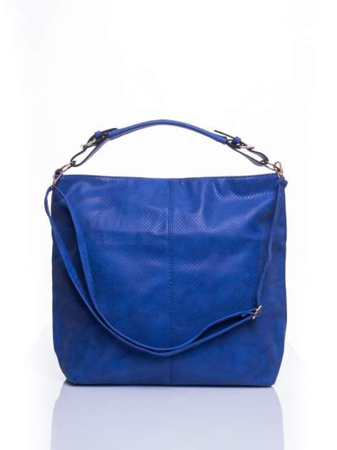 Niebieska siateczkowa torba hobo                                  zdj.                                  1