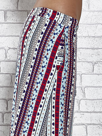 Niebieska spódnica maxi w azteckie wzory                                  zdj.                                  6