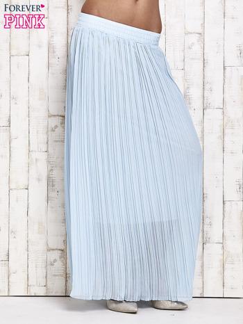 Niebieska spódnica maxi w plisy                                  zdj.                                  1