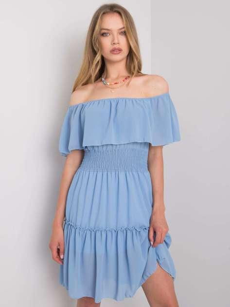 Niebieska sukienka hiszpanka Eria