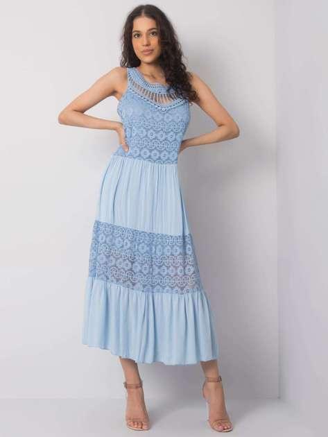 Niebieska sukienka na co dzień Gabrielle