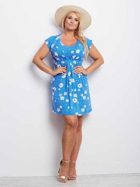 Niebieska sukienka plus size Arkansas                              zdj.                              4