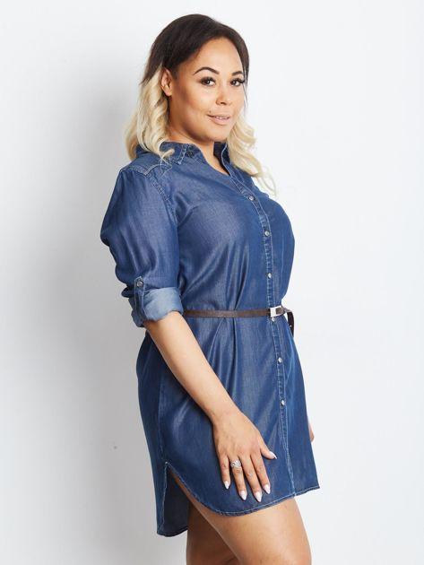 Niebieska sukienka plus size Confidence                              zdj.                              3