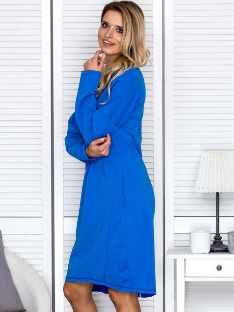 Niebieska sukienka z gwiazdą                               zdj.                              5