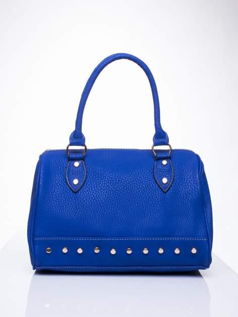 Niebieska torba bowling ze złotymi dżetami                                  zdj.                                  2