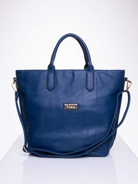 Niebieska torba damska do ręki                                  zdj.                                  1