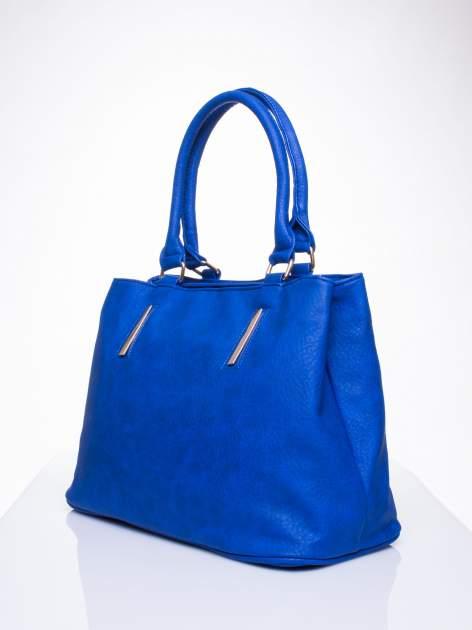 Niebieska torba miejska na ramię                                  zdj.                                  3