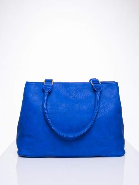 Niebieska torba miejska na ramię                                  zdj.                                  4