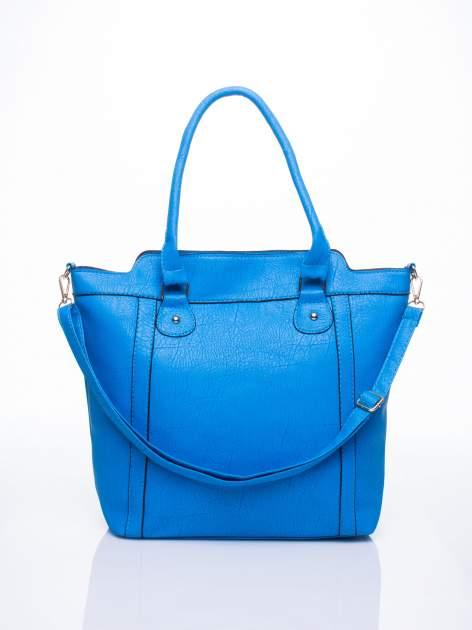 Niebieska torba miejska z odpinanym paskiem                                  zdj.                                  1