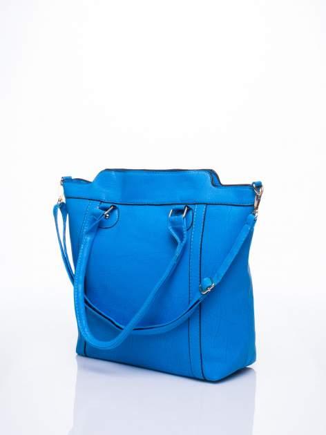 Niebieska torba miejska z odpinanym paskiem                                  zdj.                                  3