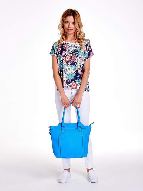 Niebieska torba miejska z odpinanym paskiem                                  zdj.                                  2