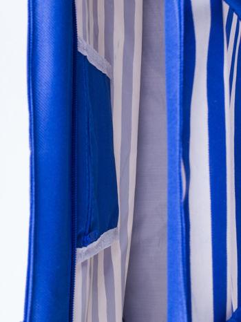 Niebieska torba plażowa w paski                                  zdj.                                  4