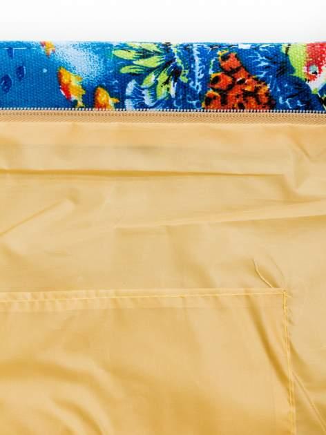 Niebieska torba plażowa z nadrukiem rafy koralowej                                  zdj.                                  8