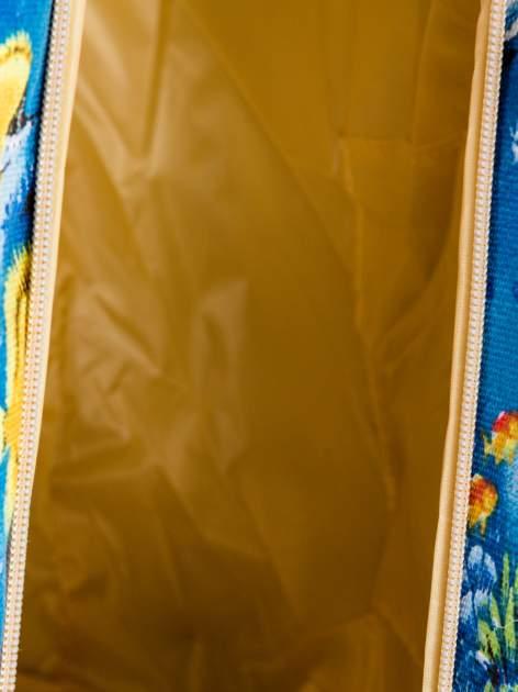 Niebieska torba plażowa z nadrukiem rafy koralowej                                  zdj.                                  9