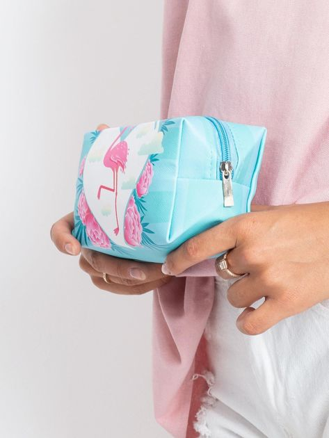 Niebieska torba z flamingiem                              zdj.                              4