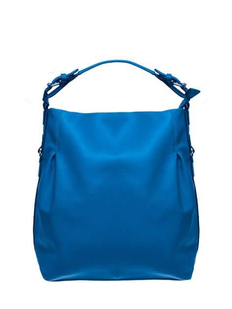 Niebieska torebka hobo na ramię