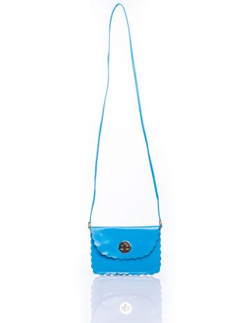 Niebieska torebka listonoszka z falowanym wykończeniem                                  zdj.                                  5