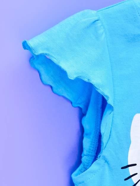 Niebieska tunika dla dziewczynki z falbankami HELLO KITTY                                   zdj.                                  5