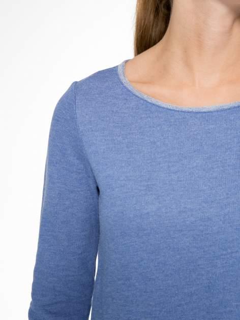 Niebieska tunika o kroju dzwonka wiązana z tyłu                                  zdj.                                  6