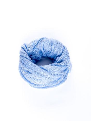 Niebieski ażurowy szalik                                  zdj.                                  2