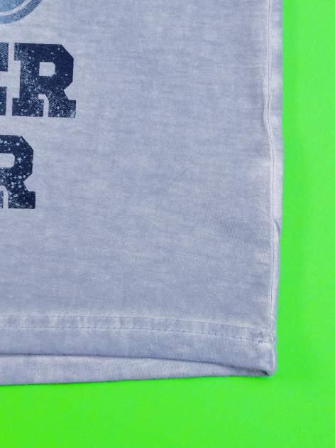 Niebieski dekatyzowany t-shirt chłopięcy STAR WARS                                  zdj.                                  5