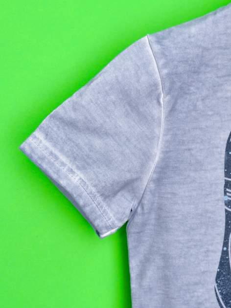 Niebieski dekatyzowany t-shirt chłopięcy STAR WARS                                  zdj.                                  6