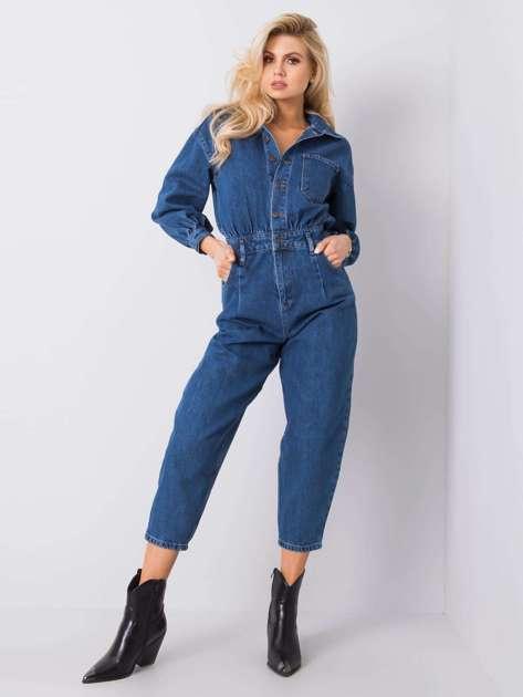 Niebieski kombinezon jeansowy Bethanie RUE PARIS