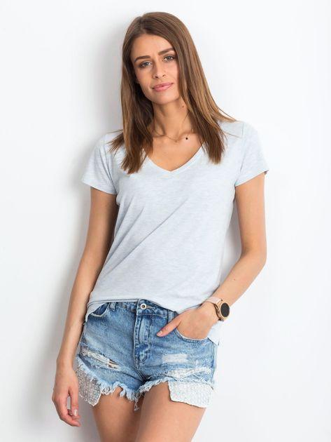 Niebieski melanżowy t-shirt Square                              zdj.                              1