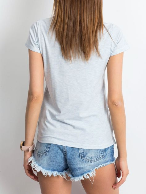 Niebieski melanżowy t-shirt Square                              zdj.                              2