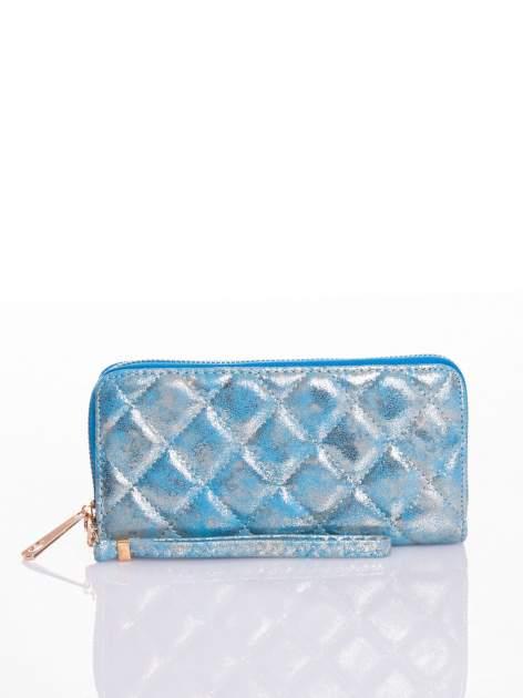 Niebieski pikowany portfel                                  zdj.                                  4