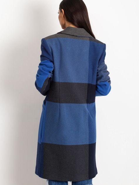 Niebieski płaszcz Geometric                              zdj.                              2