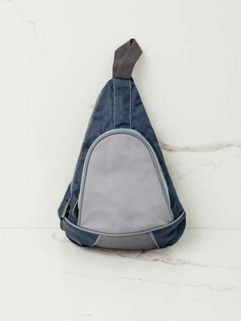 Niebieski plecak męski na jedno ramię                              zdj.                              1