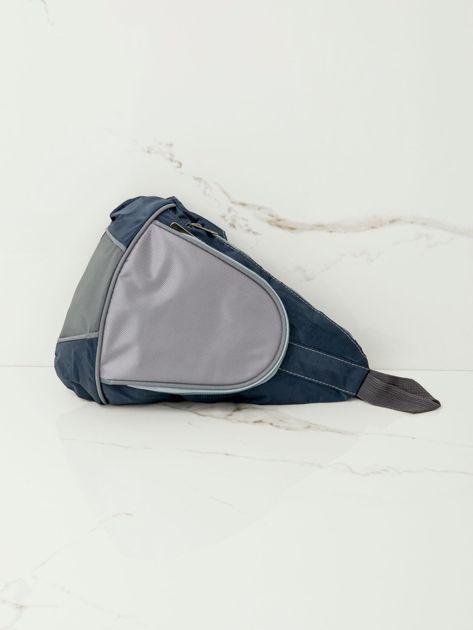Niebieski plecak męski na jedno ramię                              zdj.                              4