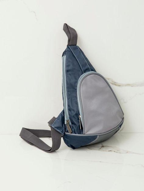 Niebieski plecak męski na jedno ramię                              zdj.                              5