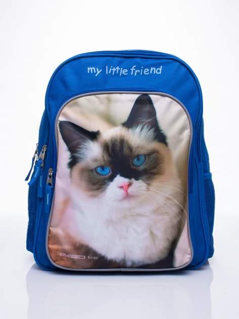 Niebieski plecak szkolny DISNEY z kotem                                  zdj.                                  1