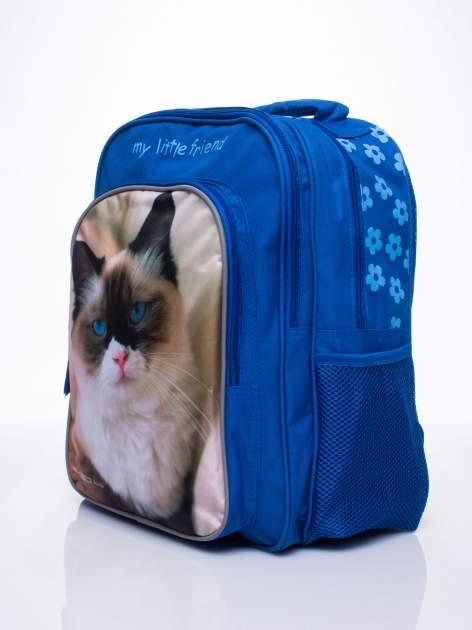 Niebieski plecak szkolny DISNEY z kotem                                  zdj.                                  2