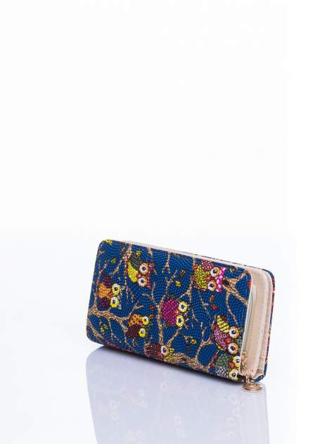 Niebieski portfel w sówki                                  zdj.                                  2
