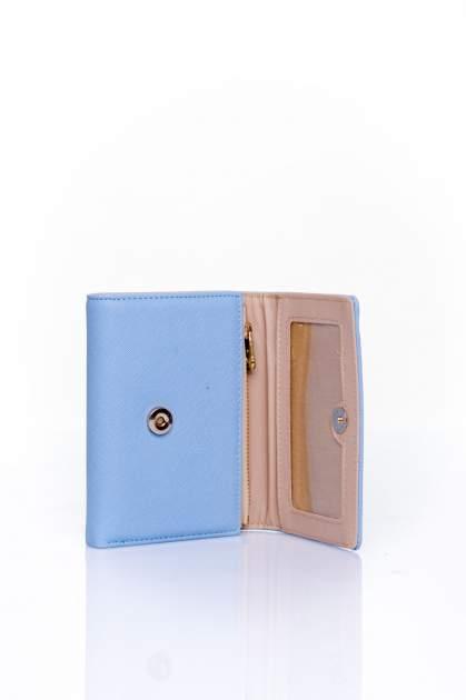Niebieski portfel z kokardką                                  zdj.                                  4