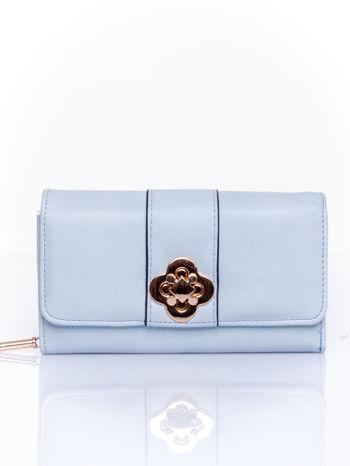 Niebieski portfel z ozdobnym zapięciem                                  zdj.                                  1