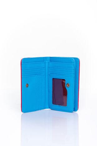 Niebieski portfel z plecionkowym wykończeniem                                  zdj.                                  3