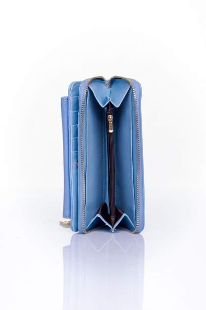 Niebieski portfel ze złotym zapięciem                                  zdj.                                  5